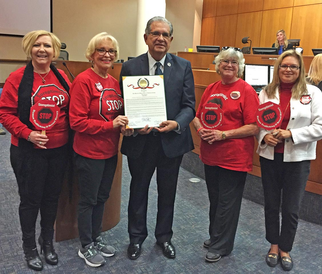 Presentation Of A Resolution Proclaiming March 8 2018 As Soroptimist Stop Human Trafficking And Sexual Slavery Awareness Day In Ventura County